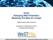 P2L6 Modeling the Web as a Graph