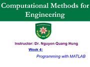 Week4-Programming with MATLAB I