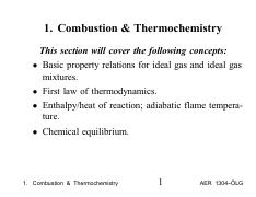 Combustion & Thermochemistry