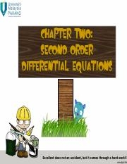 CHAPTER 2 SECOND ORDER ODE (1)