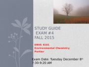 Study Guide Exam #4 Fall 2015 Revised   (1)