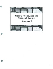 Class Note  Money Prices and Financial System