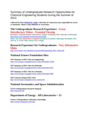 Summary+of+Undergraduate+Research+Opportunities+for+Chemical+Engineering+Students+During+the+Summer+