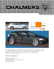 Co-Simulation of Full Vehicle Model in Adams and