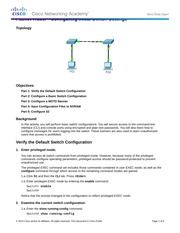 Packet Tracer - Configuring Initial Switch Settings