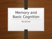SV Memory and Basic Cognition.ppt