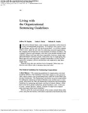 law.kaplan.Living_with_the_Organizational_Sentencing_Guidelines.1993