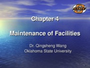 Chapter 4 Maintenance of Facilities