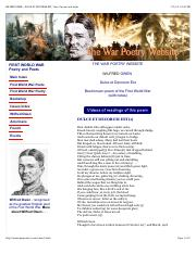 WILFRED OWEN - DULCE ET DECORUM EST, Text of poem and notes.pdf