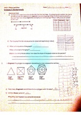 Geometry, Line points & Graphs worksheet