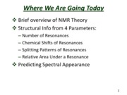Slides for  NMR Spectroscopy
