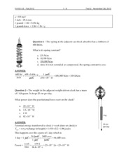 Physics 115 Test 2 with answers
