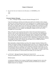 Business and Professional Writing Chapter 10 Homework