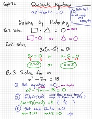 Quadratic Notes