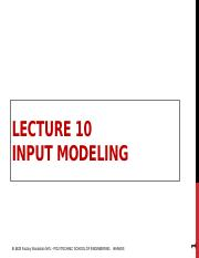 Lecture 10 Input Modeling.pptx