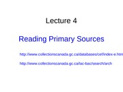Lecture 4_Primary Sources