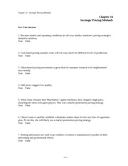 3-Chap014-Strategic Pricing Methods