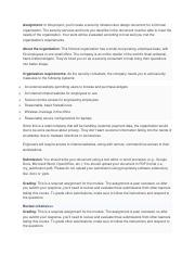 Assignment Pdf Assignment In This Project You U2019ll Create A Security Infrastructure Design Document For A Fictional Organization The Security Services Course Hero