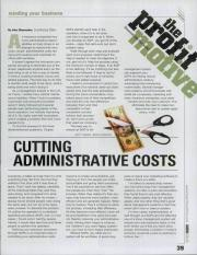 Cutting administrative Costs
