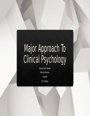 Major Approaches to Clinical Psychology Presentation.pptx