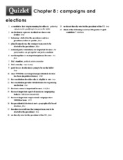 Print › Chapter 8 _ campaigns and elections _ Quizlet