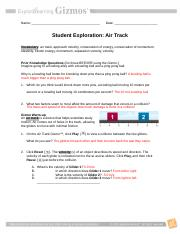 Air Track Gizmo _ ExploreLearning - Air Track Gizmo ...