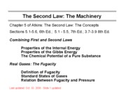 9 Machinery of the Second Law