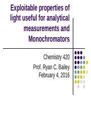 Lecture 6 - Exploitable Properties of Light and Monochromators(1) (1)