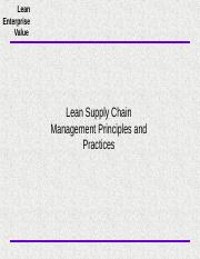 Lean Supply Chain Management Principles and Practices.ppt