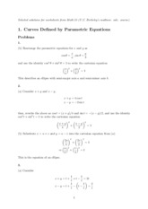 Math 53 Extra Practice Problems