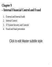 Chapter 9 - Internal financial control and fraud.ppt