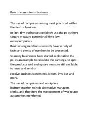 Role of computer in business.docx