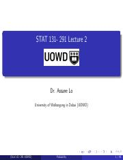 Stat131-291-Lecture2