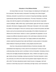 Education in 2 Different Worlds Essay