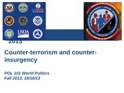Counter-Terrorism and Counter-Insurgency