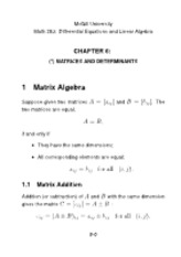 Matrices and Determinants Notes ch6