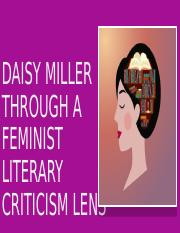Feminist Criticism on Daisy Miller.pptx