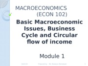 Module 1- Macroeconomics, Buisness Cycle & Circular flow of income