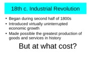 Chapter 15-The 18th Century Industrial Revolution