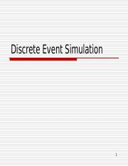 Discrete Event Simulation