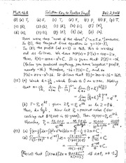 Sample Final - Solutions