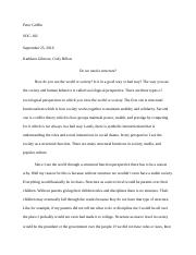 Theoretical Perspective Essay