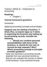 Tutorial 1, Week 2 - Introduction to accounting guidance notes(1)