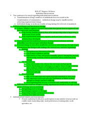 BUS 477 Chapter 10 Notes.docx