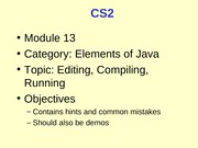 CS2_13_Editing_Compiling_Running