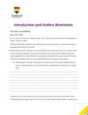 Week 2 Eng 121 Outline Worksheet.docx