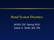 Mar 24 - renal intro