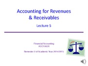 Lect5 - Revenues and Receivables