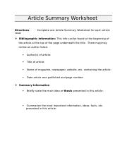 Article-Summary-Worksheet (1).doc
