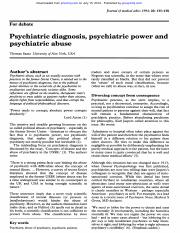 Week 2-Psychiatric diagnoses, psychiatric power and abuse